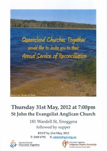 QCT Service of Reconciliation 2012 Flyer