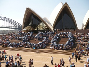 Project 350.org at the Sydney Opera House. Photo by 350.org.