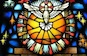 Pentecost window at Our Lady of Victories Church in Paterson, United States. Photo by Loci B. Lenar